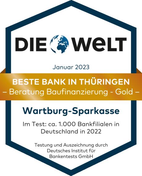Auszeichnungen Wartburg Sparkasse